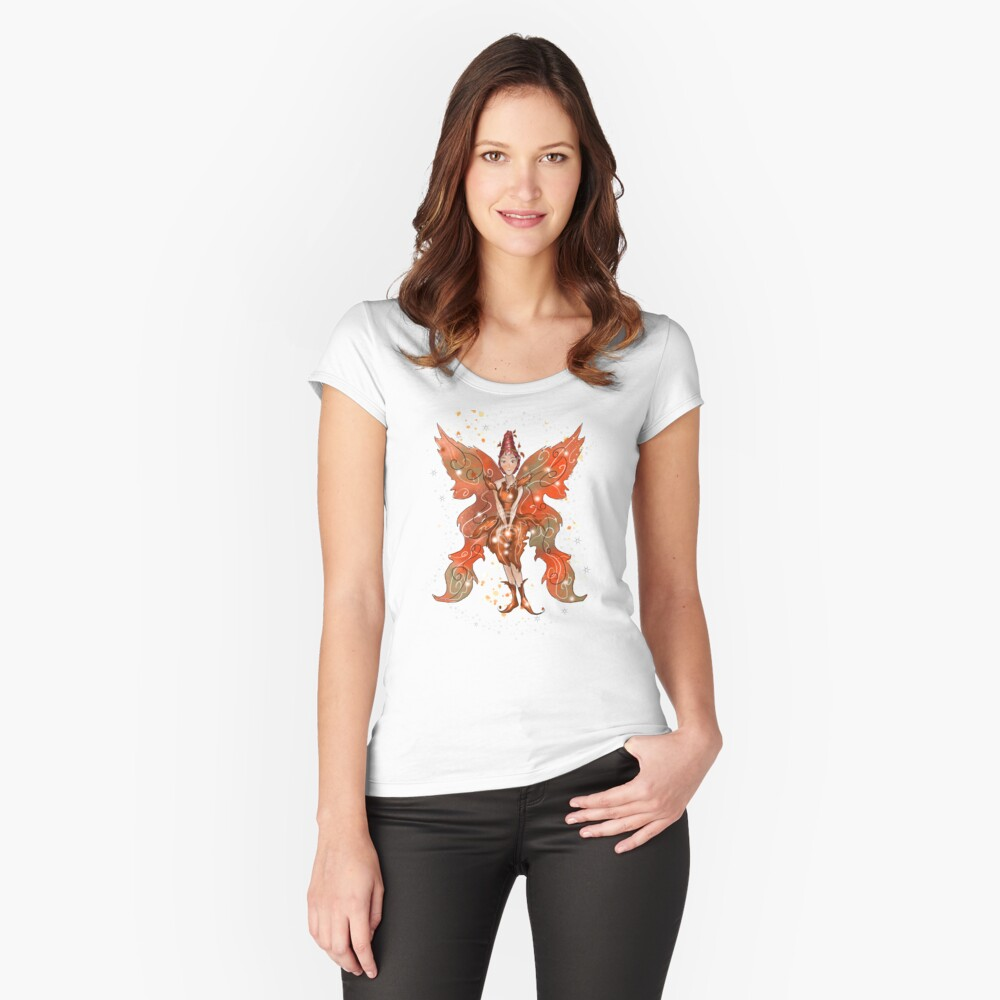 Faylin The Thanksgiving/Fall Fairy™ Fitted Scoop T-Shirt