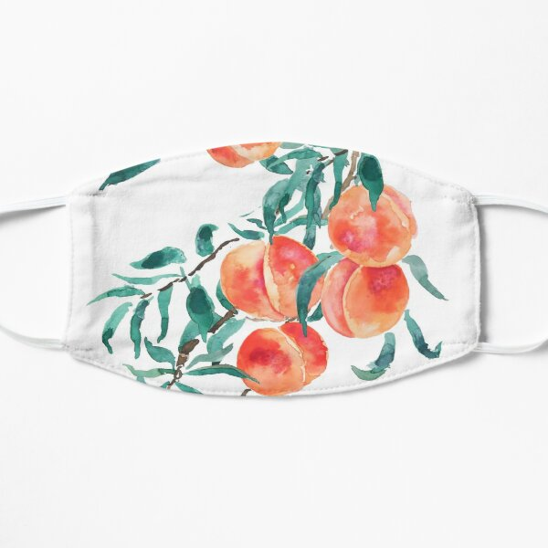 pink peach watercolor  Flat Mask