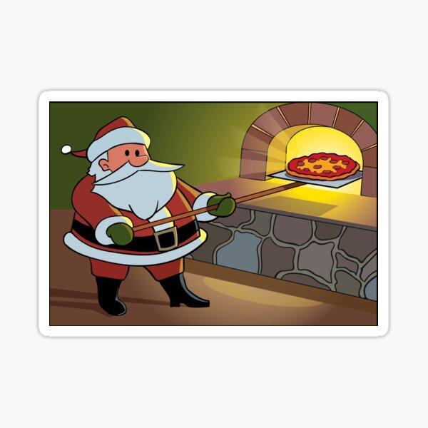 Christmas Pizza Sticker