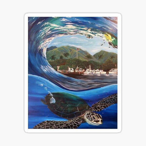 Lahaina Harbour Honu Sticker