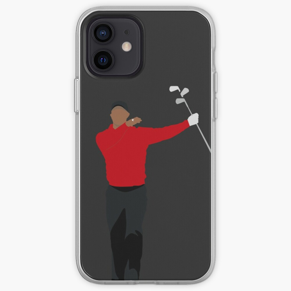 TIGER WOODS CLUB TWIRL | SUNDAY RED GOLFER iPhone Case & Cover