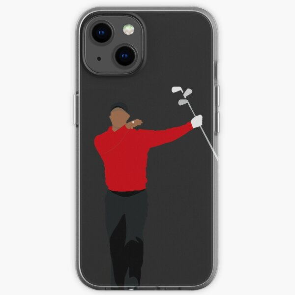 TIGER WOODS CLUB TWIRL | SUNDAY RED GOLFER iPhone Soft Case