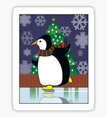 Penguin Skate Sticker