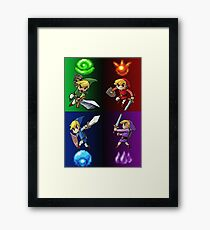 Heroes of The Four Sword Framed Print
