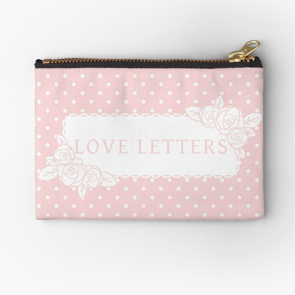 Love Letters Zipper Pouch