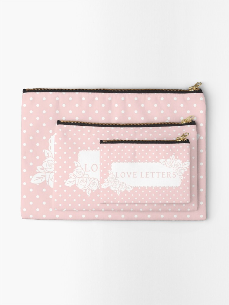 Alternate view of Love Letters Zipper Pouch