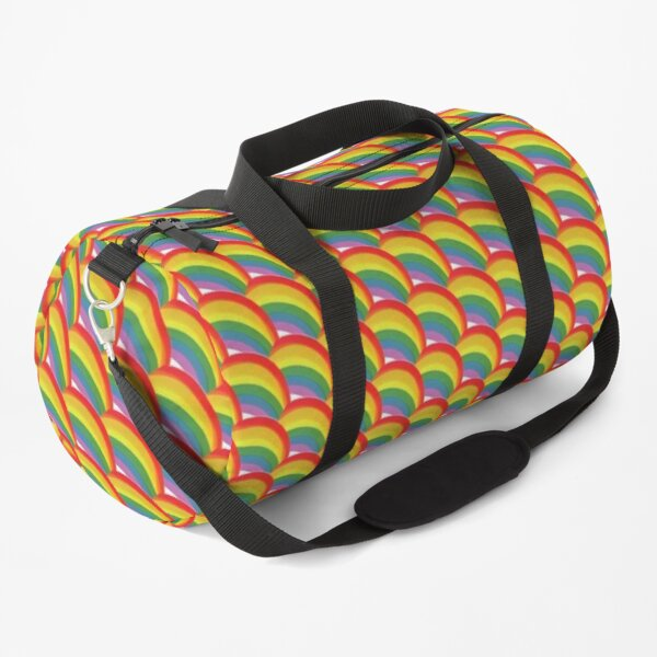 Retro rainbows - rainbow pattern Duffle Bag