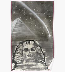 Sphinx and Pyramid I Poster