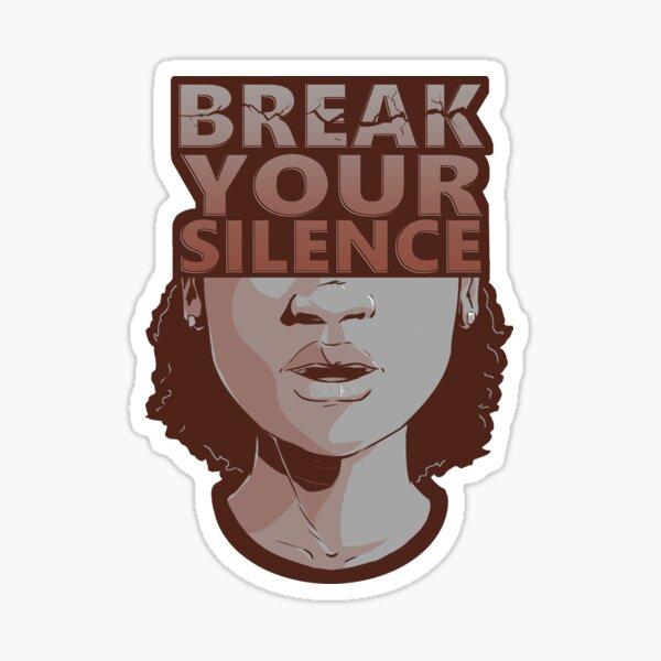 Break Your Silence Female 2 Sticker