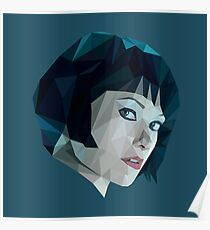 Quorra - TRON Legacy | Olivia Wilde Low Poly Poster