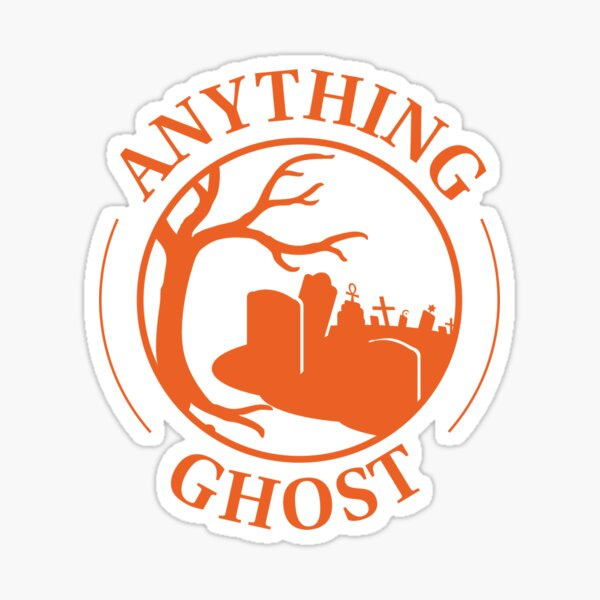 Anything Ghost Graveyard Logo (orange) Sticker