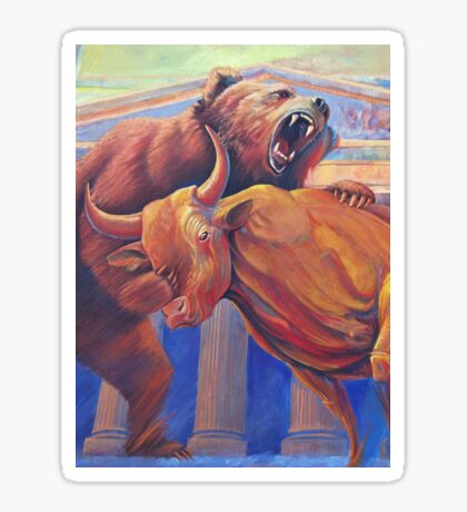 Bear vs Bull Sticker