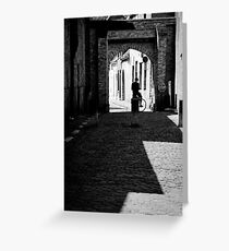 Lonely Cyclist Greeting Card