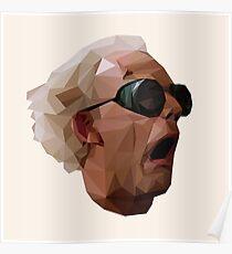 Póster Doc Brown - Regreso al futuro | Christopher Lloyd Low Poly