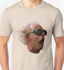 Doc Brown - Back to the Future | Christopher Lloyd Low Poly Unisex T-Shirt