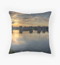 Sunset Over Neckar Throw Pillow