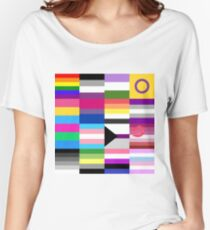 LGBT Pride Flags Collage Women's Relaxed Fit T-Shirt