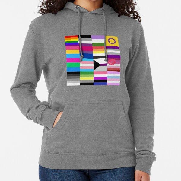 LGBT Pride Flags Collage Lightweight Hoodie