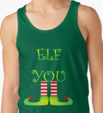 Cute Funny Christmas Elf Legs Elf You Tank Top