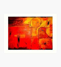 """Orange Abstract"" Art Print"