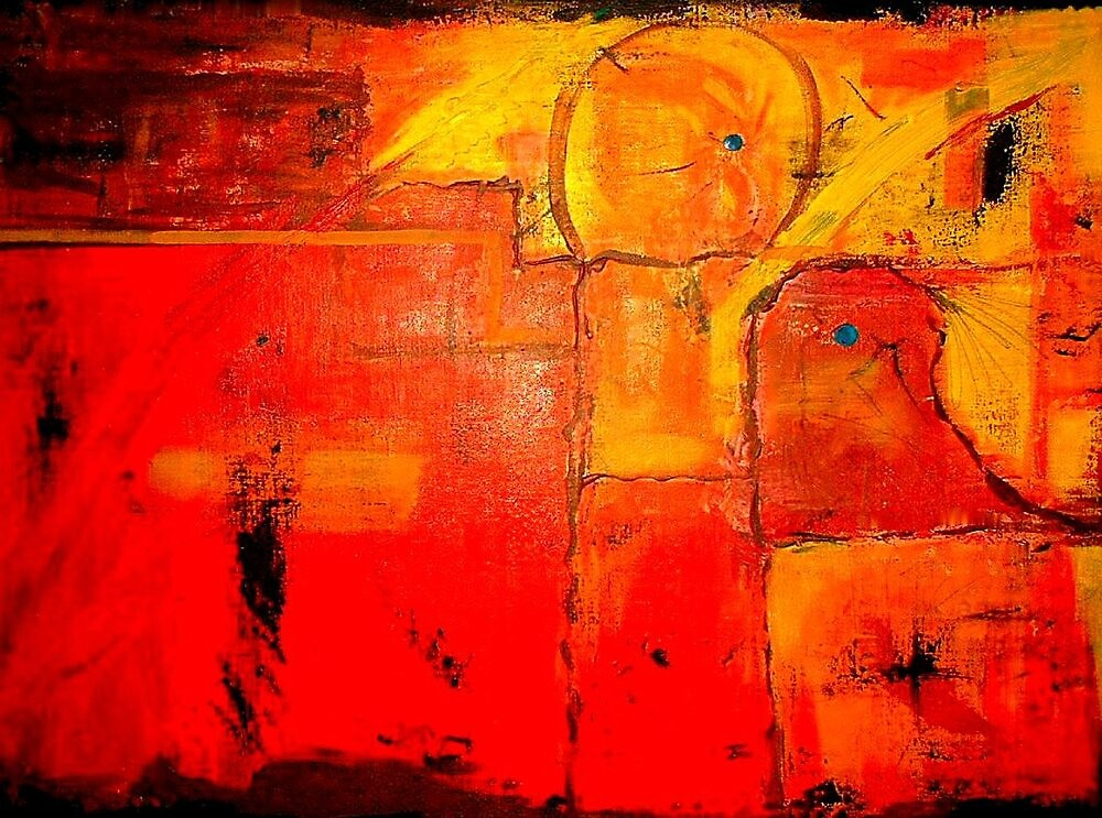 """""""Orange Abstract"""" by njchip123"""