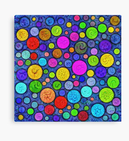 #DeepDream Color Circles Visual Areas 5x5K v1448629304 Canvas Print