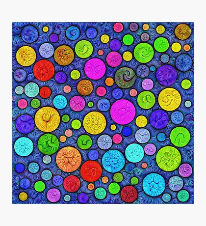 #DeepDream Color Circles Visual Areas 5x5K v1448629304 Photographic Print