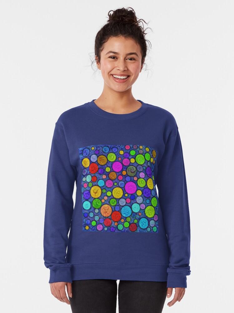 Alternate view of #DeepDream Color Circles Visual Areas 5x5K v1448629304 Pullover Sweatshirt
