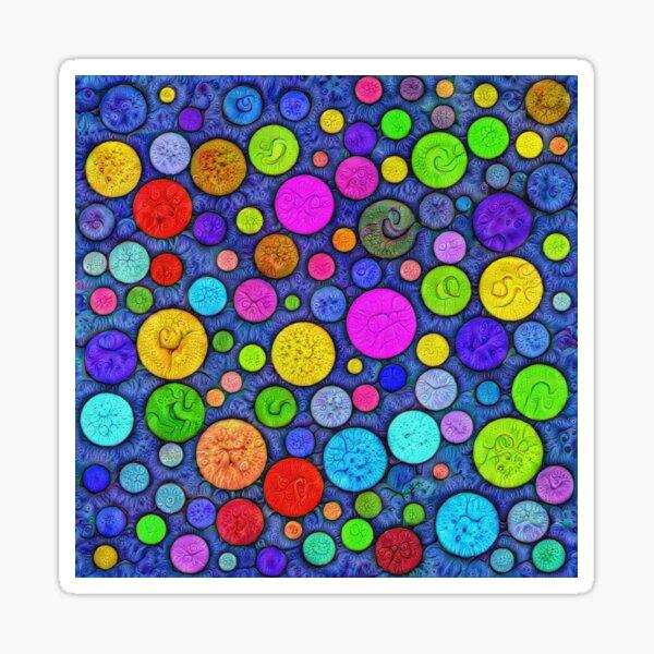 #DeepDream Color Circles Visual Areas 5x5K v1448629304 Sticker