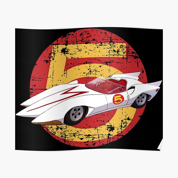Mach 5 - Distressed Poster