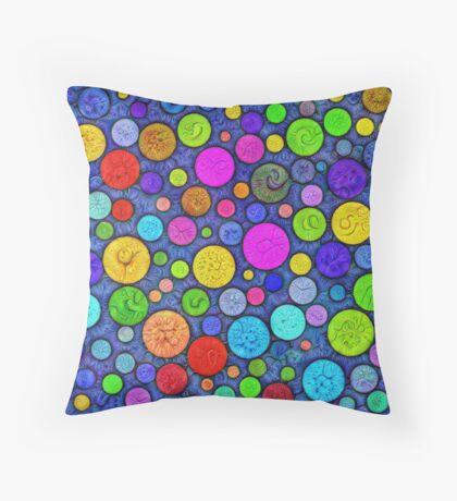 #DeepDream Color Circles Visual Areas 5x5K v1448629304 Throw Pillow