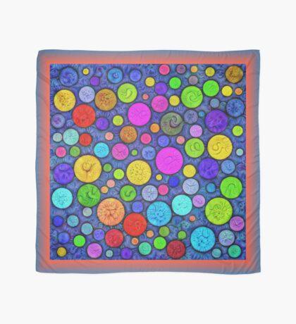 #DeepDream Color Circles Visual Areas 5x5K v1448629304 Scarf