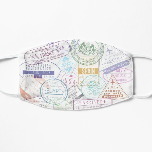 Colorful Passport Stamps Mask