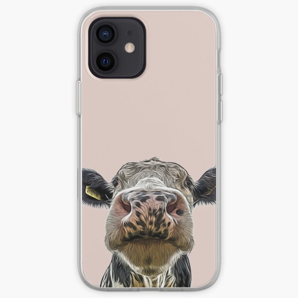 Cute Dairy Cow Close-up iPhone Soft Case