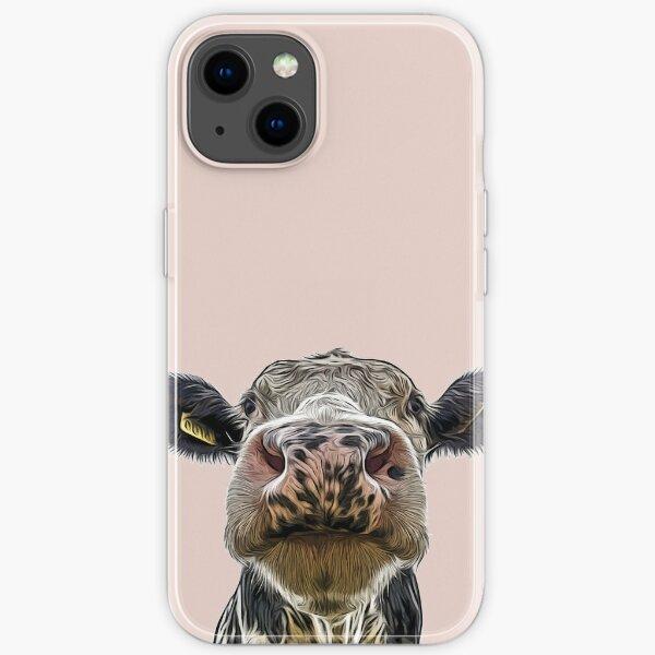 Cute Dairy Cow Close-up iPhone Soft Case