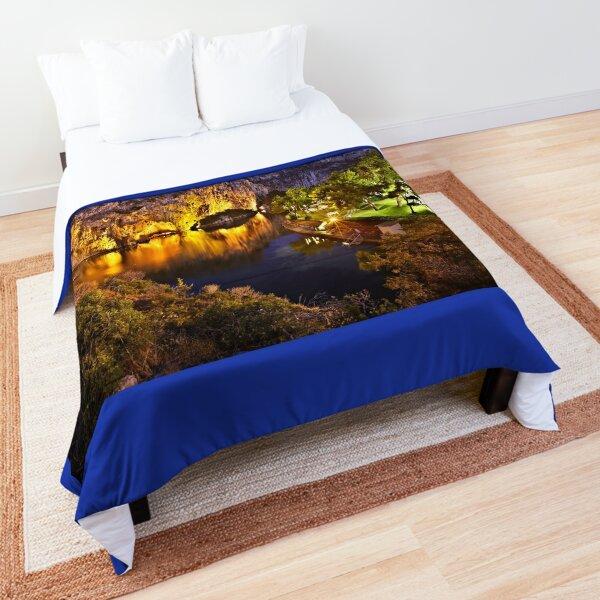 Vouliagmeni lake - Attica, Greece. Comforter