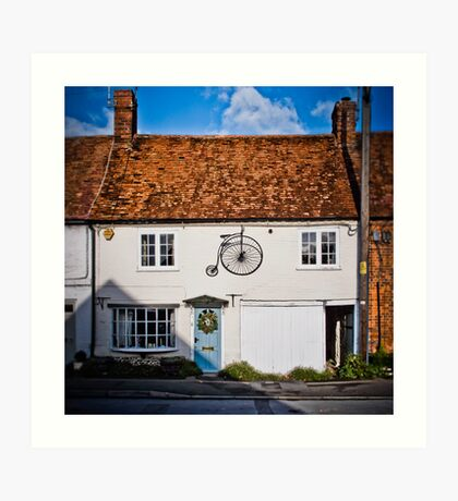 Penny Farthing Cottage Art Print