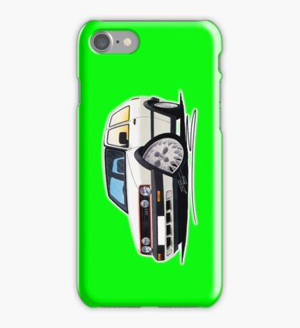 VW Golf (Mk2) GTi White (LIME) iPhone Case/Skin