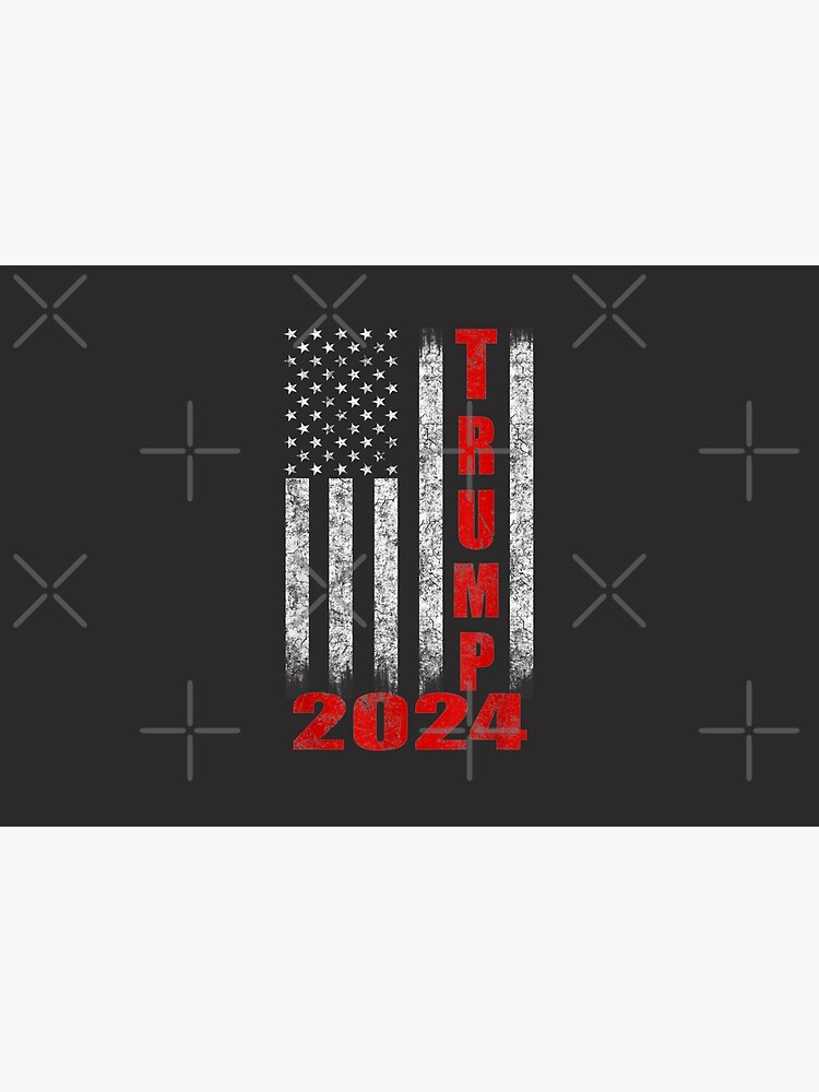 American Flag Design Trump 2024 by ChenXiuying
