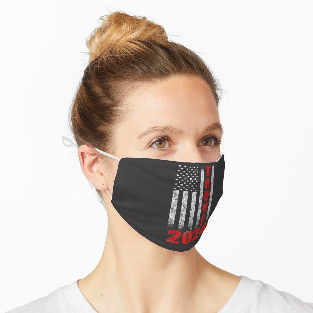 American Flag Design Trump 2024 Mask