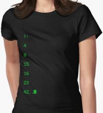 lost numbers Womens Fitted T-Shirt