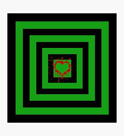 Splattered heart Photographic Print