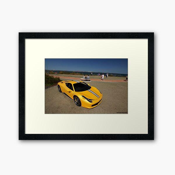 Yellow Ferrari 458 Italia Framed Art Print