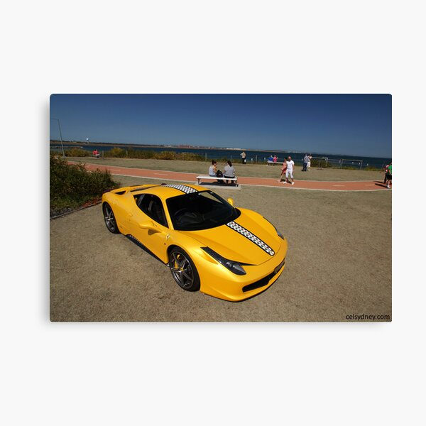 Yellow Ferrari 458 Italia Canvas Print
