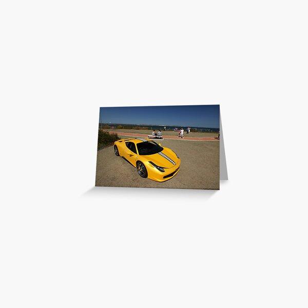 Yellow Ferrari 458 Italia Greeting Card