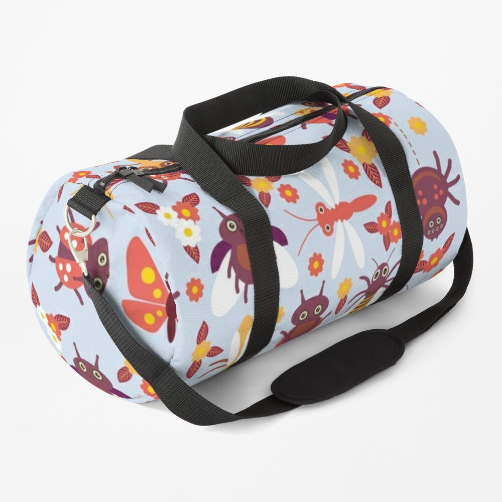 Funny insects Spider butterfly caterpillar dragonfly mantis beetle wasp ladybugs  Duffle Bag