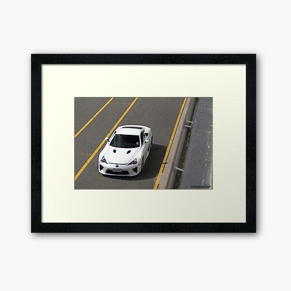 Lexus LFA - Track Framed Art Print