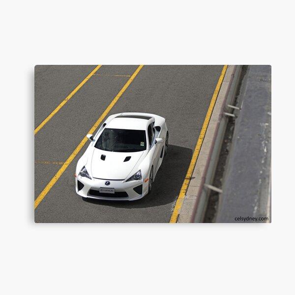 Lexus LFA - Track Canvas Print
