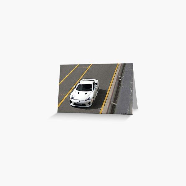 Lexus LFA - Track Greeting Card