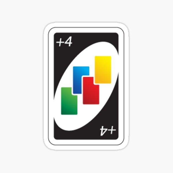 Uno Draw Four Card Sticker